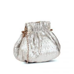 Silver-coloured coin purse side view
