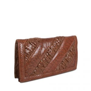 Bolso de Snakeskin handbag with shirring side view