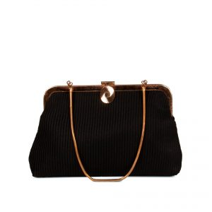 Clutch bag in pleated fabric